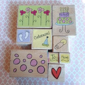 Katie & Co rubber stamp set